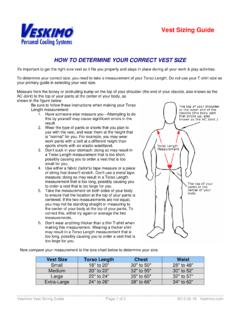 HOW TO DETERMINE YOUR CORRECT VEST SIZE