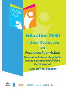 Education 2030 - UNESCO | Building peace in the minds of ...