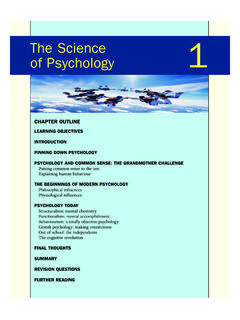 The Science of Psychology 1 - Wiley-Blackwell
