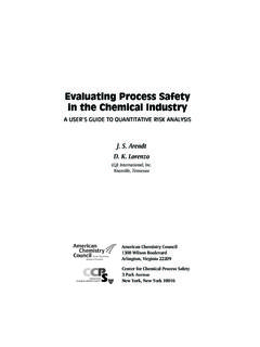 Evaluating Process Safety in the Chemical Industry