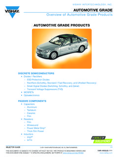 Overview of Automotive Grade Products AUTOMOTIVE ... - …