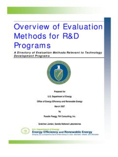 Overview of Evaluation Methods for R&D Programs