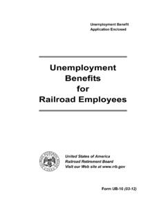 UB-10 Unemployment Benefits for RailRoad Employees