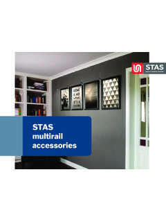 STAS multirail accessories - STAS picture hanging systems