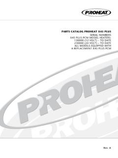 PARTS CATALOG PROHEAT X45 PLUS SERIAL …