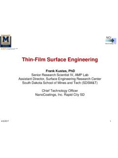 Thin-Film Surface Engineering - NFPA