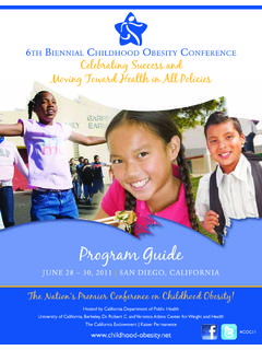 Program Guide - Childhood obesity