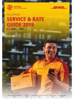 DHL EXPRESS SERVICE & RATE GUIDE 2019