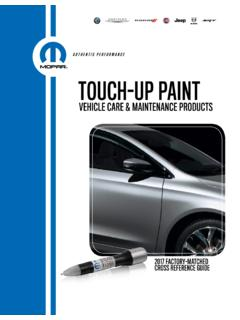 AUTHENTIC PERFORMANCE TOUCH-UP PAINT - Chrysler
