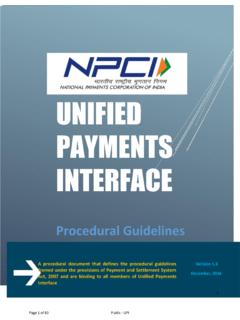 UNIFIED PAYMENTS INTERFACE - npci.org.in