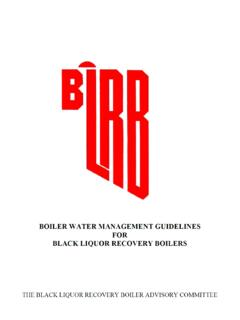 Recovery Boiler Water Management Guidelines - BLRBAC