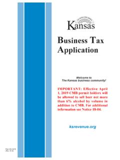 Business ax Application - ksrevenue.org
