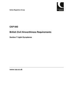 CAP 643 British Civil Airworthiness Requirements
