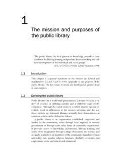 The mission and purposes of the public library - degruyter.com