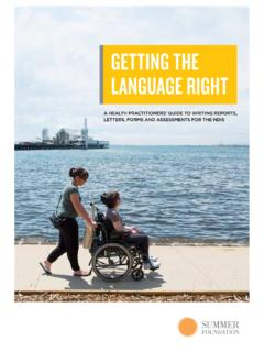 GETTING THE LANGUAGE RIGHT - summerfoundation.org.au