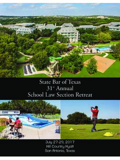 State Bar of Texas 31st Annual School Law Section …