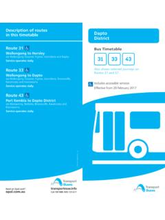 Route 31 Bus Timetable Wollongong to Horsley 31 33 43