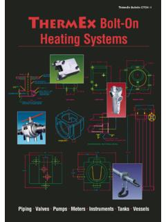 Bulletin CTCH -1 THERMeX Bolt-On Heating Systems