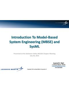 Introduction To Model-Based System Engineering (MBSE) and ...