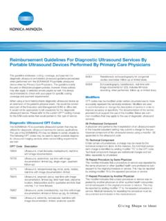 Reimbursement Guidelines For Diagnostic Ultrasound ...