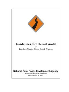 Guidelines for Internal Audit - PMGSY Home Page