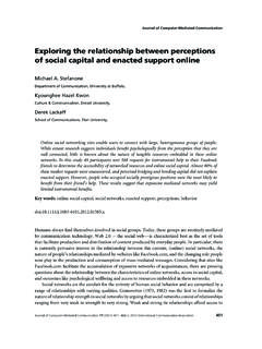 Exploring the relationship between perceptions of …