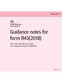Guidance notes for form R43(2018)