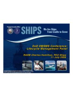 DoD DMSMS Conference: Lifecycle Management Panel