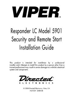 Responder LC Model 5901 Security and Remote …