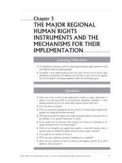 Chapter 3 THE MAJOR REGIONAL HUMAN RIGHTS …