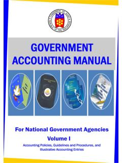 Government Accounting Manual for National Government ...