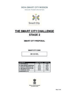 THE SMART CITY CHALLENGE STAGE 2 - Smart Cities Mission