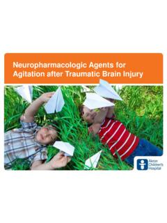 Neuropharmacologic Agents for Agitation after Traumatic ...