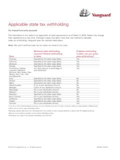 Applicable state tax withholding - Vanguard