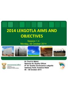 2014 LEKGOTLA AIMS AND OBJECTIVES - …