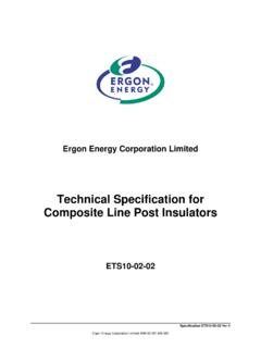 Technical Specification for Composite Line Post Insulators