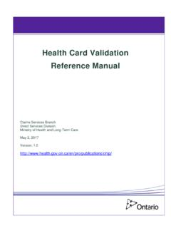 Health Card Validation Reference Manual