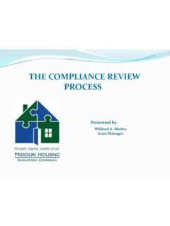 THE COMPLIANCE REVIEW PROCESS - MHDC