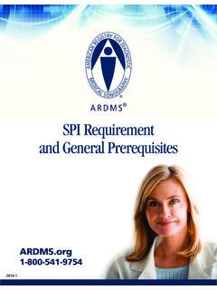 SPI Requirement and General Prerequisites - ARDMS