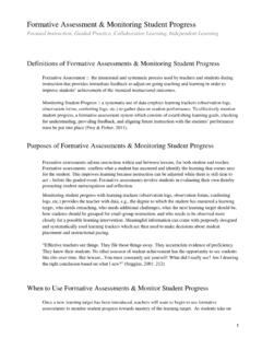 Formative Assessment & Monitoring Student …
