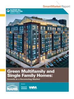 Green Multifamily and Single Family Homes - Waste …