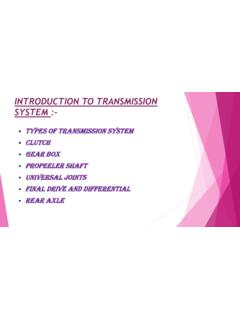 INTRODUCTION TO TRANSMISSION SYSTEM