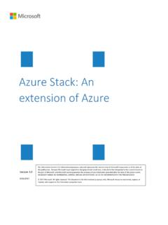 Azure Stack: An extension of Azure