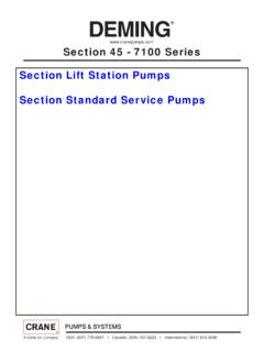 Section 45 - 7100 Series Section Lift Station Pumps ...
