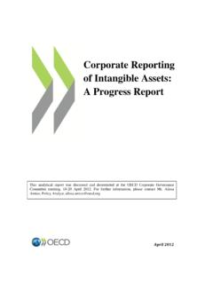 Corporate Reporting of Intangible Assets: A …