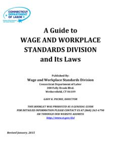 A Guide to WAGE AND WORKPLACE STANDARDS …