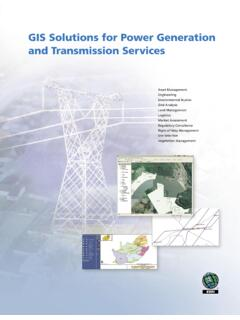 GIS Solutions for Power Generation and Transmission Services