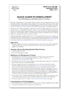 QUICK GUIDE TO ENROLLMENT - Montgomery …