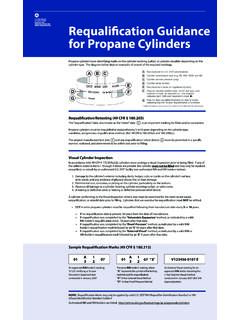 Requalification Guidance for Propane Cylinders - PHMSA