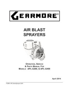 AIR BLAST SPRAYERS - Gearmore